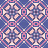 Abstract geometric seamless pattern. Mauve and blue  style pattern Royalty Free Stock Photo