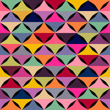 Abstract geometric seamless pattern with stock illustration
