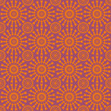 Abstract geometric seamless pattern. Orange style pattern with circle and line. Stock Photos