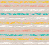 Abstract geometric seamless pattern in pastel colors. Stock Images