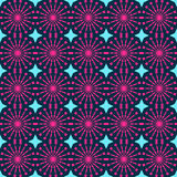 Abstract geometric seamless pattern. Pink style pattern with circle and line. Stock Photography