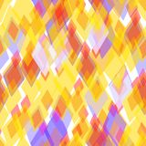Abstract geometric seamless pattern with rhombus and brilliant decorative geometric and abstract contemporary elements. gold orang. E yellow lilac geometric Stock Image