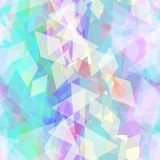 Abstract geometric seamless pattern with rhombus and brilliant decorative contemporary elements. purple lilac blue aqua geometric. Print, ethnic hipster trendy Stock Illustration