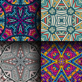 Abstract geometric seamless pattern set Stock Photos