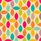 Abstract geometric seamless pattern. Abstract geometric spindle shape colorful seamless pattern Vector Illustration
