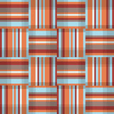 Abstract geometric seamless pattern. Square stripe fabric texture Stock Photo