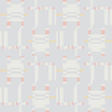 Abstract geometric seamless pattern. Square stripe ornament Royalty Free Stock Images