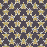 Abstract geometric seamless pattern with stars Stock Photography
