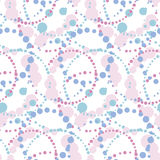 Abstract geometric seamless pattern in tender pastel color.. Decorative paint dots surface design. vector illustration for fabric, wrapping paper, background Stock Photography