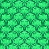 Abstract geometric seamless pattern. Vector background with stylized tropical palm leaves royalty free illustration