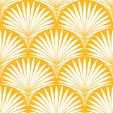 Abstract geometric seamless pattern. Vector background with stylized tropical palm leaves vector illustration