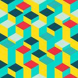 Abstract geometric seamless pattern. Vector illustration in 3D isometric style Royalty Free Stock Images