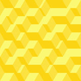 Abstract geometric seamless pattern. Vector illustration in 3D isometric style Stock Images