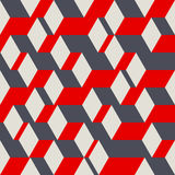 Abstract geometric seamless pattern. Vector illustration in 3D isometric style Stock Photos