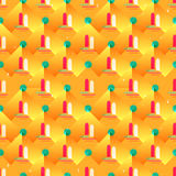 Abstract geometric seamless pattern on a yellow background. Vector eps 10 stock illustration