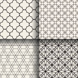Abstract geometric seamless patterns. Set of abstract geometric seamless patterns Royalty Free Stock Photography