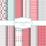 Abstract geometric seamless patterns set Royalty Free Stock Image
