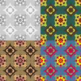 Abstract geometric seamless patterns. A set of abstract geometric seamless vector patterns vector illustration