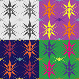 Abstract geometric seamless patterns. A set of abstract geometric seamless vector patterns stock illustration