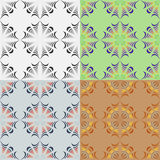 Abstract geometric seamless patterns. A set of abstract geometric seamless vector patterns royalty free illustration