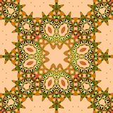 Seamless square ornament brown green Royalty Free Stock Photography