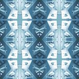 Abstract geometric seamless square pattern. Blue and white 3d background with high-tech structure Royalty Free Stock Images