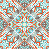 Abstract geometric seamless tile pattern. Vector Tribal Mexican style ethnic seamless pattern. Vintage indian geometric background Royalty Free Stock Images