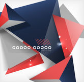 Abstract geometric shape background Stock Photography