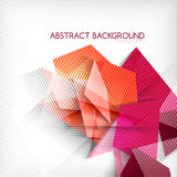Abstract geometric shape background Stock Images
