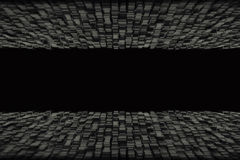 Abstract geometric shape from black cubes. 3d render. Ing Stock Photo