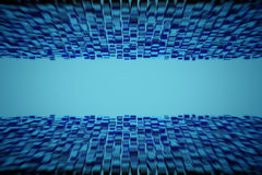 Abstract geometric shape from blue cubes. 3d render. Ing Royalty Free Stock Photos