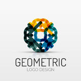 Abstract geometric shape company logo Stock Photos