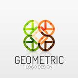 Abstract geometric shape company logo Royalty Free Stock Photos