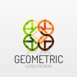 Abstract geometric shape company logo Royalty Free Stock Photos
