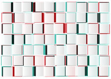 Abstract geometric shape from cubes Royalty Free Stock Photography