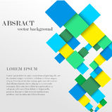 Abstract geometric shape from diamonds. Vector abstract geometric shape from colorful diamonds with the place for your text. Square material background with the Stock Photo