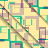 Abstract geometric shape illustration Stock Images