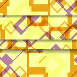 Abstract geometric shape illustration Royalty Free Stock Photos
