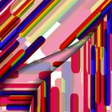 Abstract geometric shape illustration Royalty Free Stock Image
