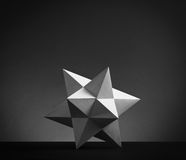 Abstract geometric shape from pyramids Stock Photography
