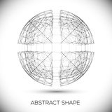Abstract geometric shape. Round composition of the Stock Image