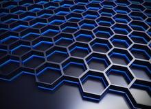 Abstract geometric shape with shiny metallic background Stock Image