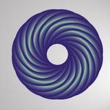 Abstract geometric shape with torus-like figure. Vector illustrator Stock Image