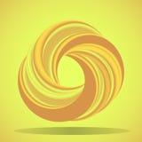 Abstract geometric shape with torus-like figure Royalty Free Stock Image
