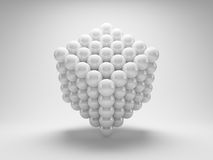 Abstract geometric shapes. From array balls Stock Images