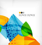 Abstract Geometric Shapes Background Royalty Free Stock Photography