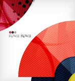 Abstract geometric shapes background stock illustration