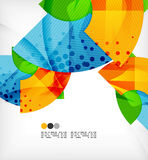 Abstract geometric shapes background Stock Photography