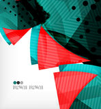 Abstract geometric shapes background Stock Images
