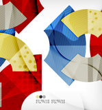 Abstract geometric shapes background Stock Image